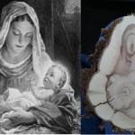 Εμφάνιση της Παρθένου Μαρίας & του Ιησού σε κομμάτι ξύλου;