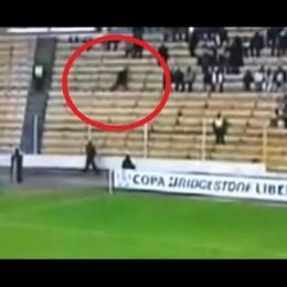 Φάντασμα τρέχει στις εξέδρες ποδοσφαιρικού σταδίου;! (video)