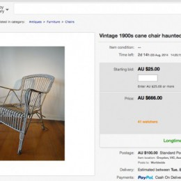 Όρισε την τιμή των 666$ στο πωλητήριο μίας στοιχειωμένης καρέκλας!